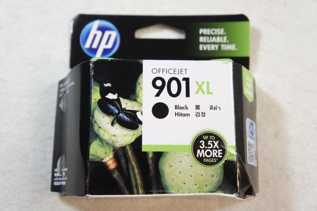 HP 901XL Black High Yield Original Ink Cartridge CC654AN Exp: Jan/2018