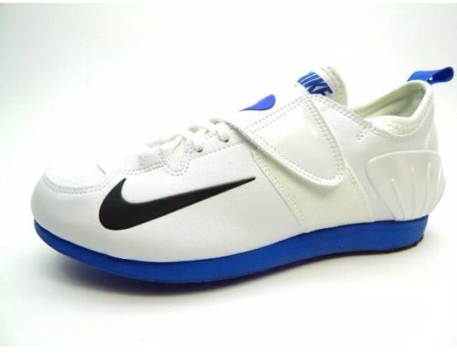 NEW! Nike Zoom PV II Pole Vault Track Spikes Shoes White Blue Men's Size 4.5