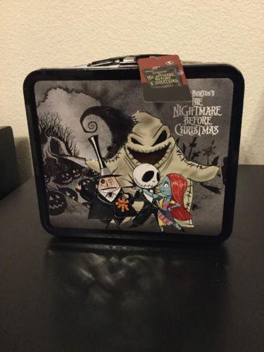 Disney Nightmare Before Christmas Chibi Loungefly Metal Tin Lunchbox Brand New