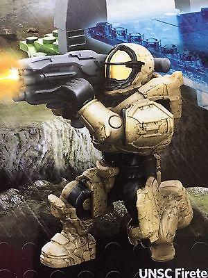 Halo Mega Bloks Set #CNK25 UNSC Fireteam Rhino Oceanic Figure #1 With Shield