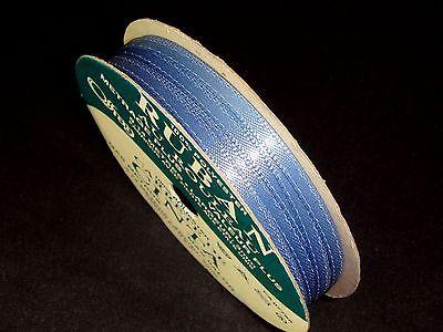 Offray Ribbon 10 Yards Blue Satin 1/8