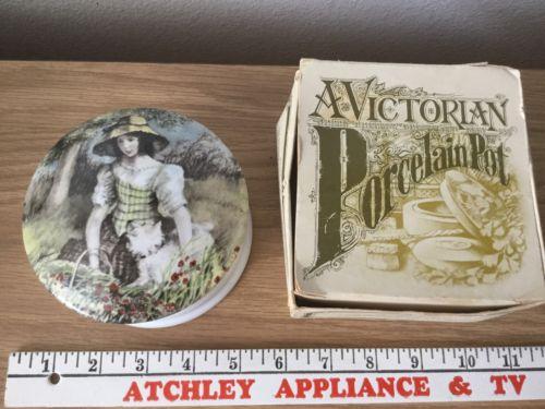 Beautiful Antique Victorian Porcelain Pot Soap Box