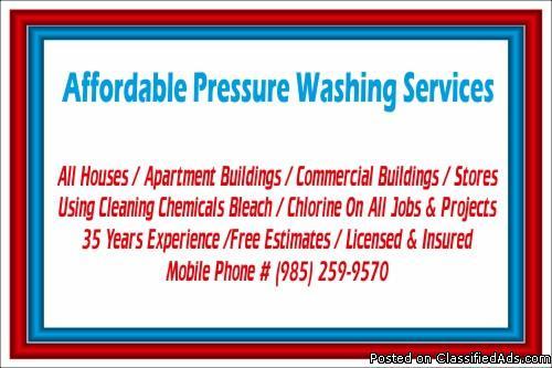 House Pressure Washing Specials