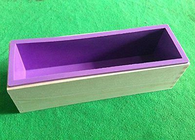 42 oz Soap Making Supplies Flexible Rectangular Soap Silicone Loaf Mold Wood Box