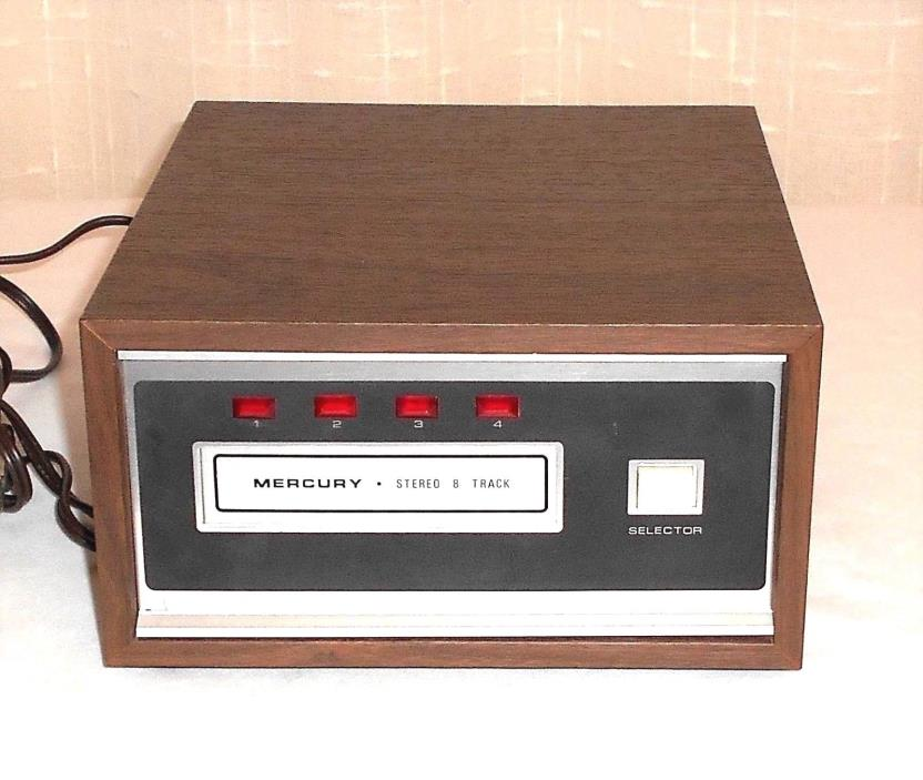 Vintage Mercury PX806 Stereo 8 Track Player Deck Made in Japan Works