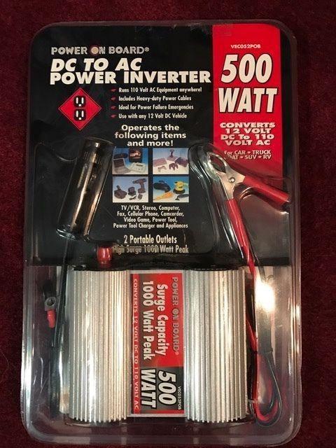 BRAND NEW UNOPENED DC TO AC POWER INVERTER-500 WATT