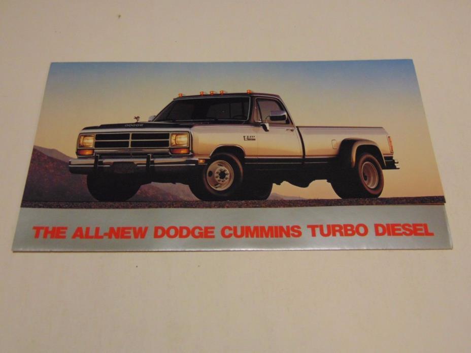 1989 Dodge Truck Cummins Turbo Diesel Brochure Pamphlet Advertising