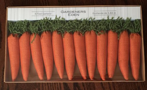 Gardeners Eden Easter 6FT Large Carrot Garland Decor Decoration Fast Shipping!