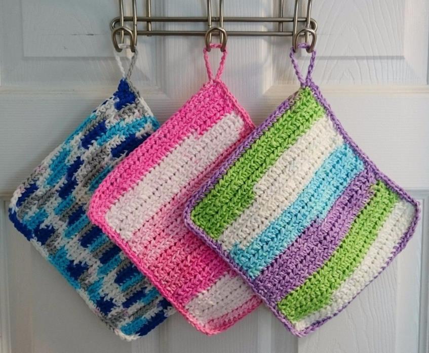Handmade Crochet Pot holder/hot pads/coasters