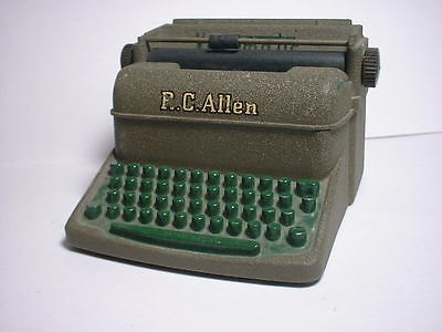 Vintage R.C. ALLEN VisOmatic TYPEWRITER Miniature Salesman Sample Free Shipping