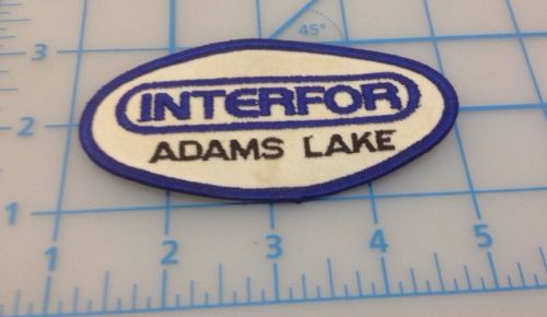 INTERFOR ADAMS LAKE EMBROIDERED PATCH