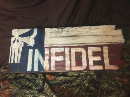 Rustic Reclaimed Wood Texas Flag Wall Hanging Art, Patriotic