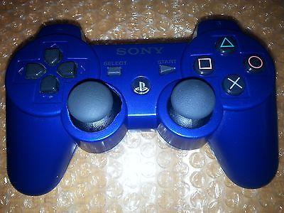OEM Blue Sony Wireless PS3 Dualshock 3 Sixaxis Controller cechzcd