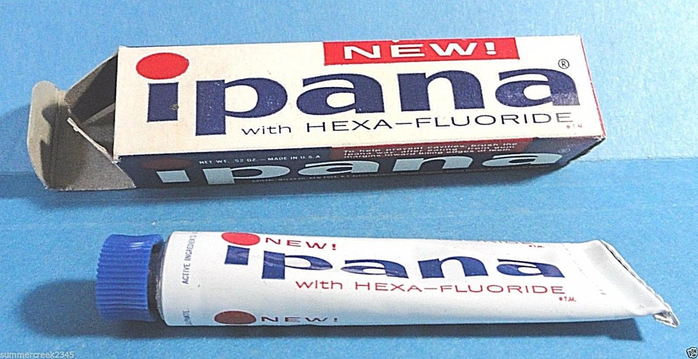 Vintage IPANA Toothpaste  New Old Stock
