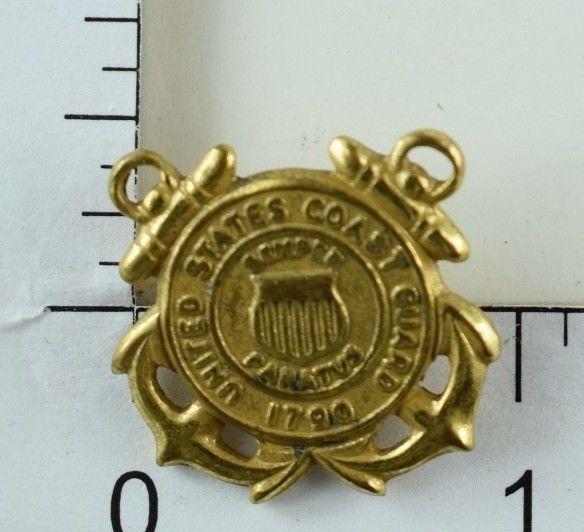Vintage U.S. Coast Guard Semper Peratus Hat/Shirt Screwback Pin 1