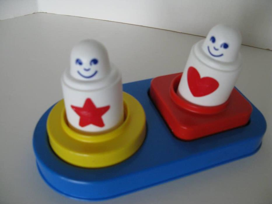 Vintage 1980's Johnson & Johnson Fitting Forms Baby Toddler Shapes Stacker Toy