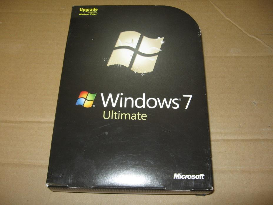 Microsoft Windows 7 Ultimate Upgrade Retail Box  SKU-GLC-00184 64 Bit Disc / Key