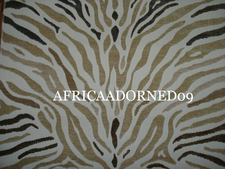 H8H EXOTIC HVY WEIGHT  ANIMAL SKIN CHENILLE UPHOLSTERY FABRIC BTY MULTI BEIGE