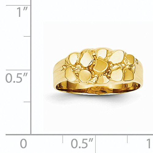 14k Yellow Gold Nugget Ring (8mm Width)