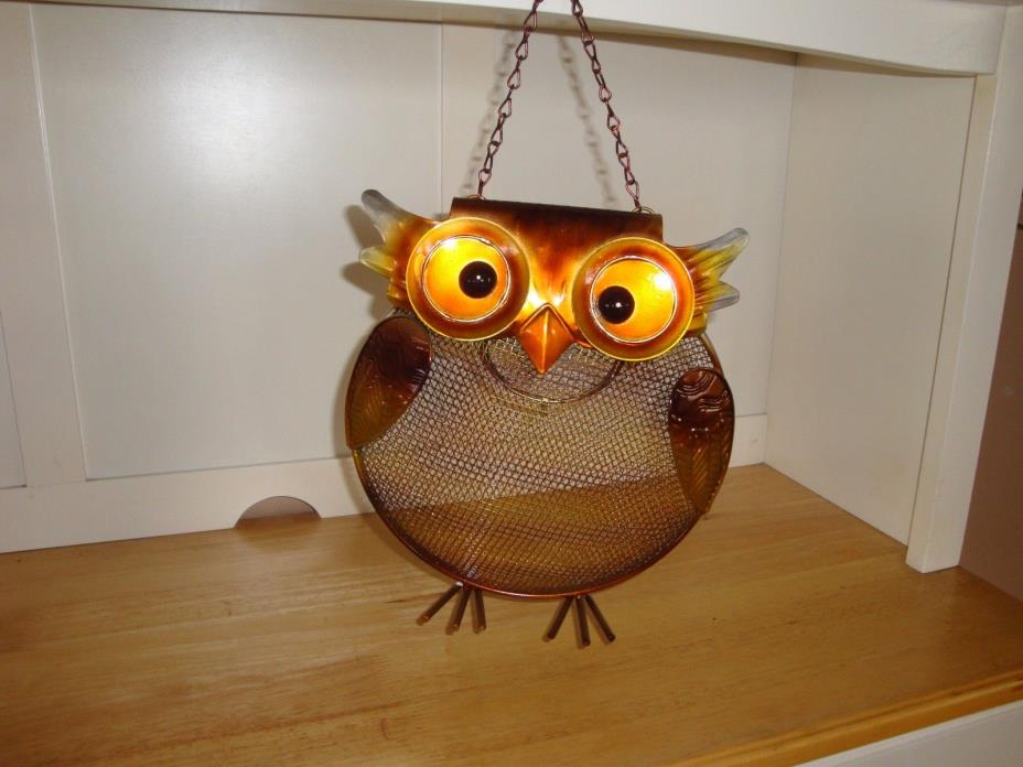 REDUCED LARGE 10 X 10 Wire & Metal Owl Bird Seed Feeder-Wildlife-Yard-Garden