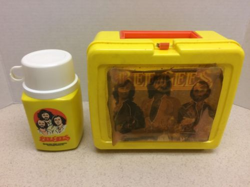 Rare Hologram Bee Gees 1978 Vintage Lunch Box & Thermos - Holographic Cover Art