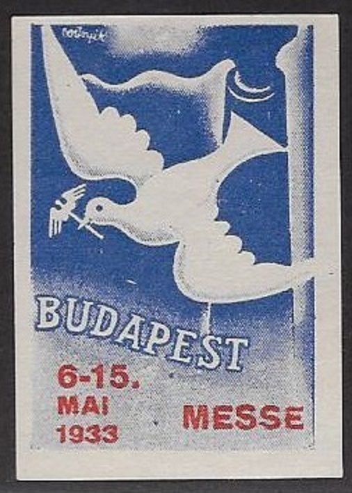 Poster/Cinderella Stamp:  May 6-15, 1933 Budapest Messe  - dw728
