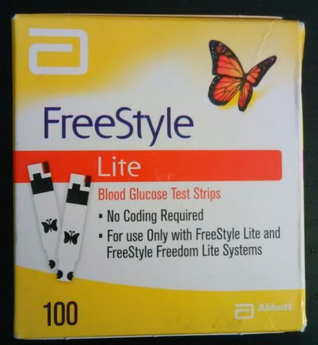 FreeStyle Lite 100ct Diabetic test strips Sealed Exp 04/2018