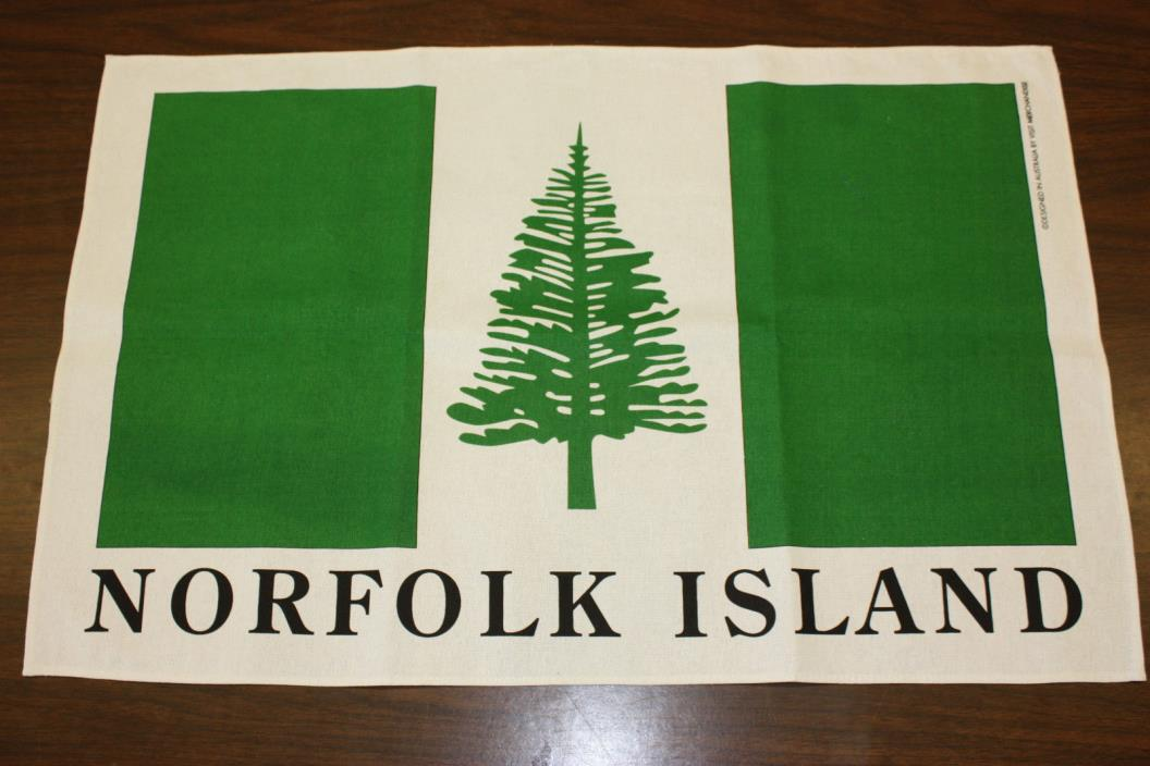 Norfolk Island Flag Linen Tea Towel 30
