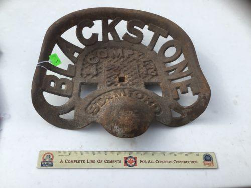 Vintage Blackstone Tractor Seat Lot 8