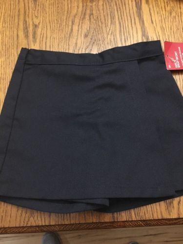 Girls Size 5 DICKIES Navy Blue Uniform Skort NWT