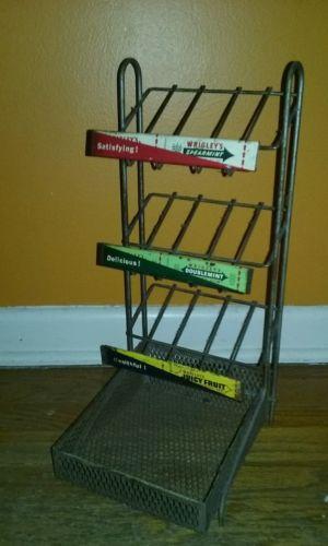 Vintage Wrigleys Chewing Gum Wire Store Display Rack Advertising c.1950s