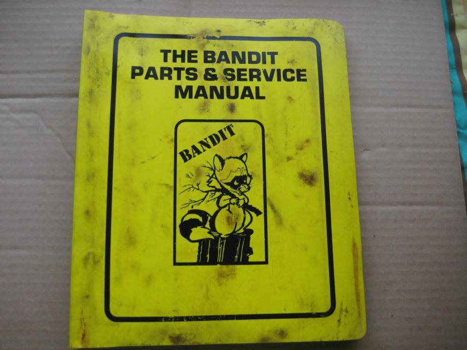 Bandit Brush Chippers 100 200 1200 Owner Parts & Service Manual