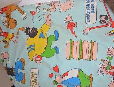 Popeye King Flat Sheet Material Fabric 108x115 Character Burllngton House Percal
