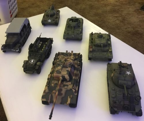 21st Century Toys 1/32 WW2 Tank Lot Panzer,Sherman, German Carrier