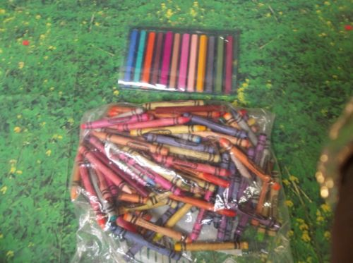 C23 Lot of 100+ Assorted Crayola Crayons