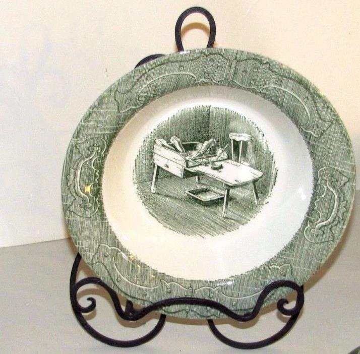 Vintage Old Curiosity Shop Royal China Serving Bowl 9 Inches Cobblers Bench