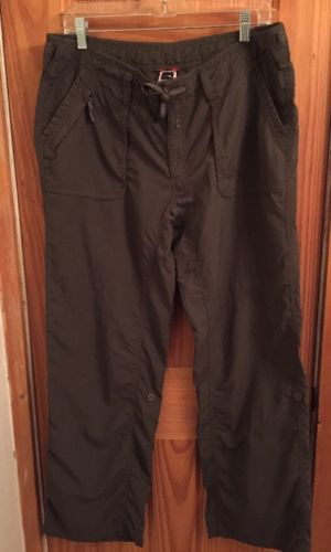 North Face Nylon Olive Green Women's Size 16 Outdoor Pants/Roll Up Shorts