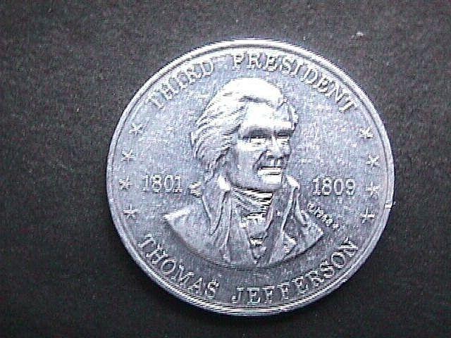 Thomas Jefferson  3rd President Collectible Token