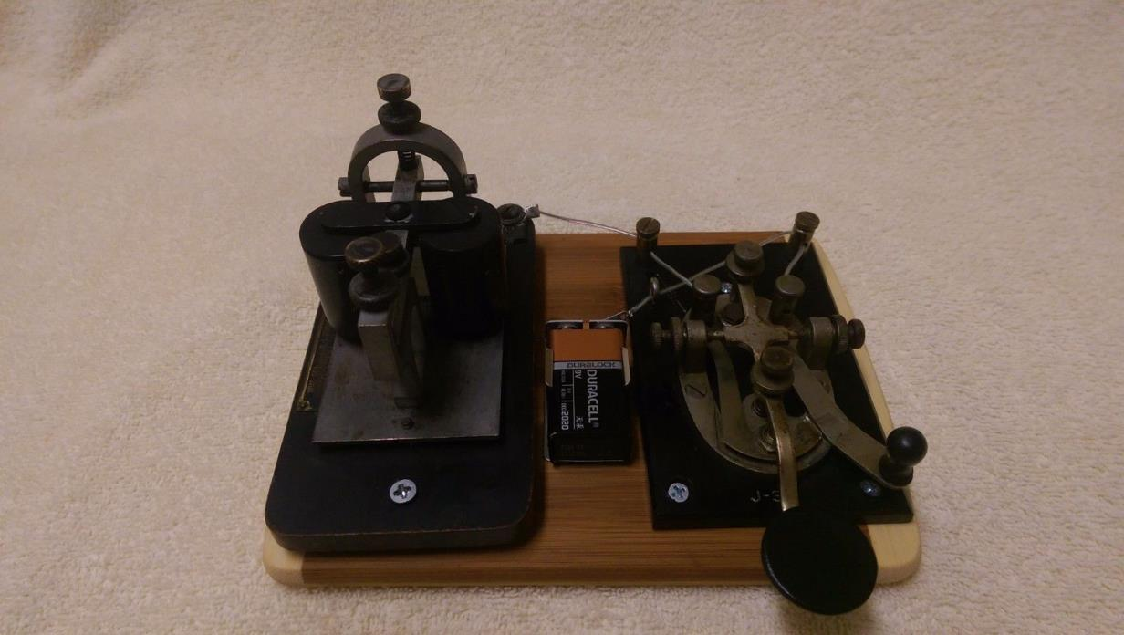 j-38 Telegraph Key and Bunnell Sounder