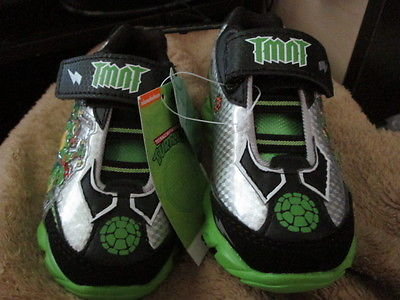 Toddler Boy Ninja Turtles Athletics shoes size 7 Brand New