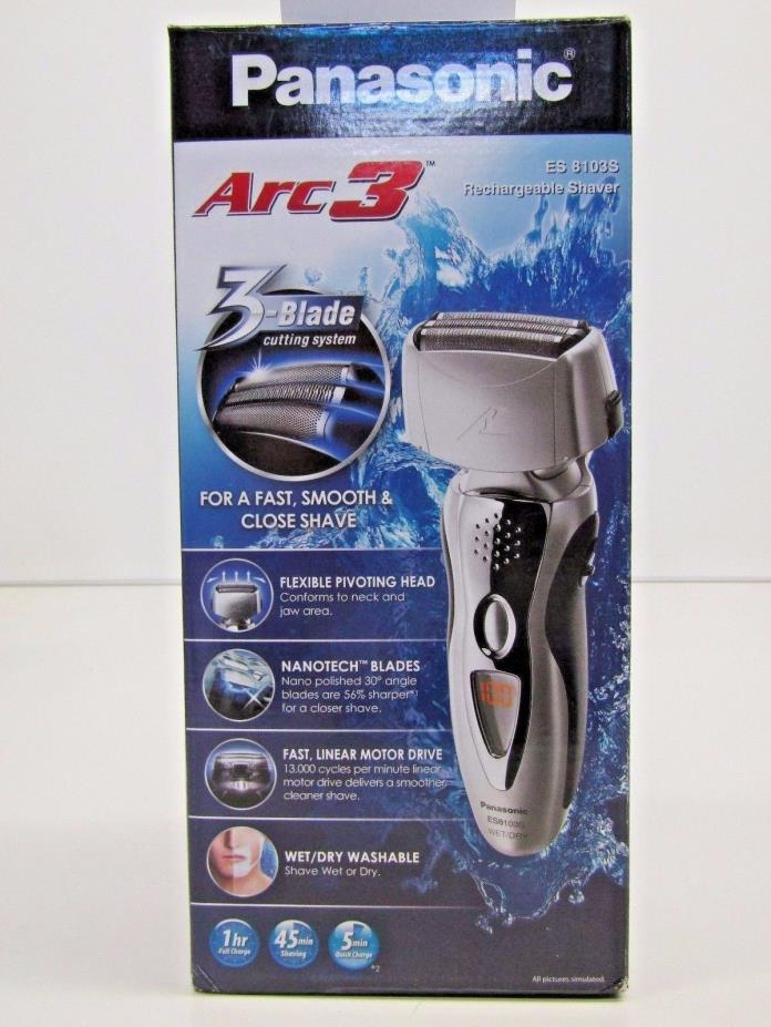 Panasonic ES8103S Arc3 Men's Electric Shaver Wet/Dry