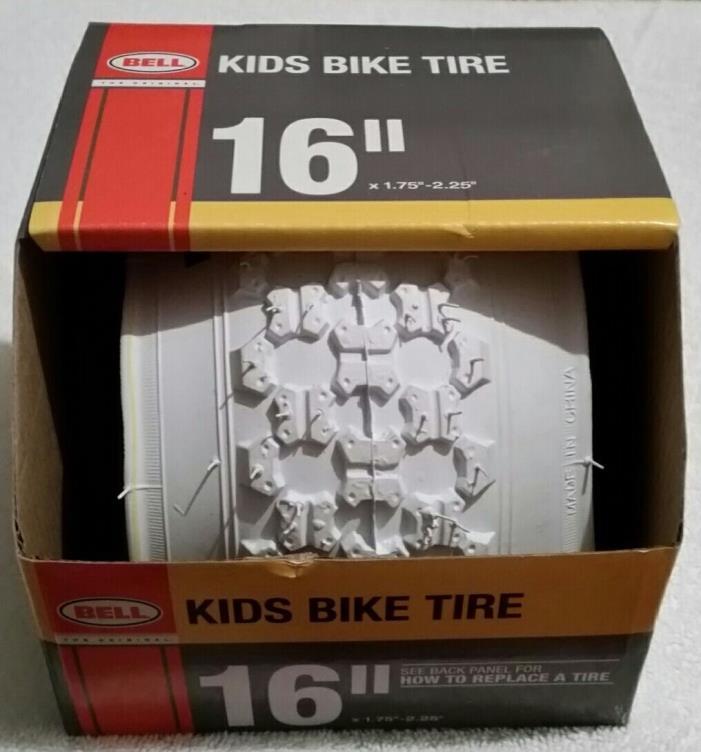 2 BELL KIDS BIKE TIRES FOR BMX BIKES - White 16