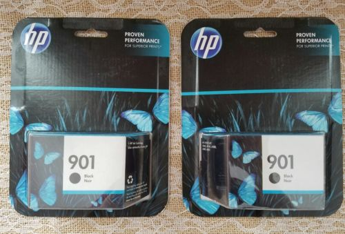 Lot of 2! HP 901 Genuine Black & Tri-Color Ink Cartridge New/Sealed. Exp- 02/17