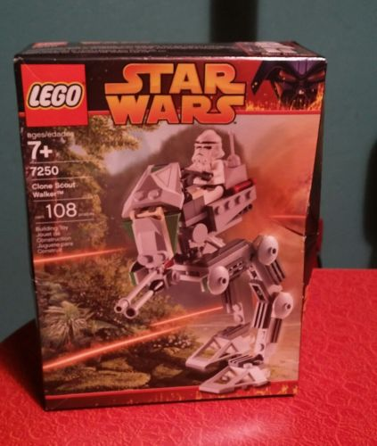 NEW~2005~Lego~STAR WARS~Clone Scout Walker~Factory Sealed~#7250
