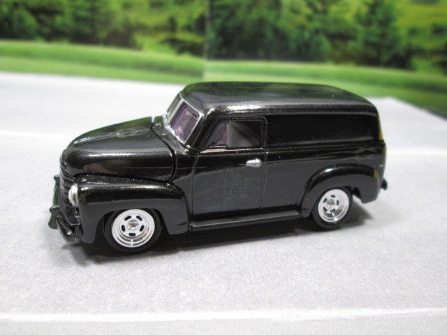 1950  '50 CHEVY PANEL VAN  (black)     1/64 S SCALE  ~~  NEAR MINT LOOSE