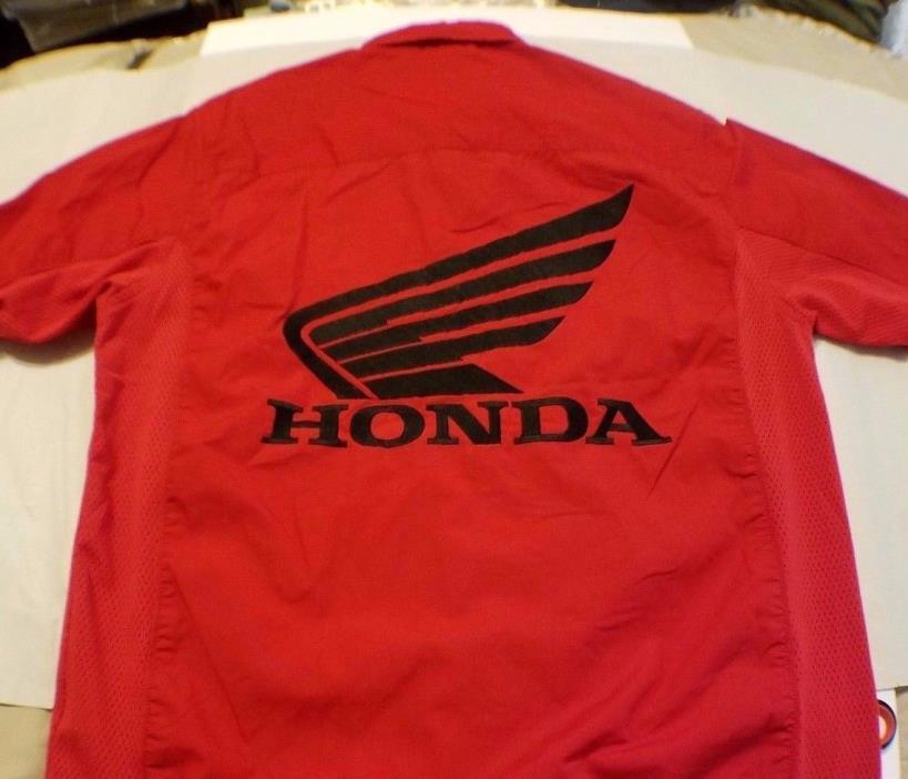 Honda Motorcycle racing shirt short sleeve size L  free shipping fox racing