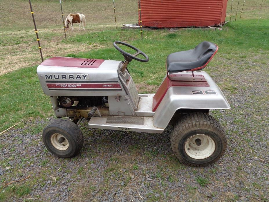 VINTAGE MURRAY RIDING MOWER 8 HP BRIGGS & STRATTON MOTOR LAWN TRACTOR GARDEN