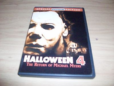 HORROR MOVIE: HALLOWEEN 4: THE RETURN OF MICHAEL MYERS! USED & IN EX COND!!!!!