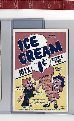Vintage vending machine display 1c Ice Cream bubble gum card FREE SHIPPING