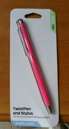 Cellcandy 5.5 Twist Ink Pen Stylus for all Tablets and SmartPhones Pink